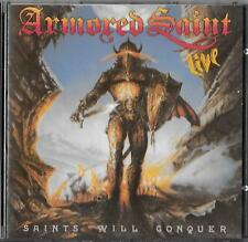 Armored Saint Saints Will Conquer Live Cd 1988 Roadrunner  RR 9520 2 / Anthrax
