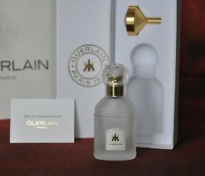 Guerlain Travel Glass Bee Bottle 30 Ml Atomizer WIth Funnel, EMPTY, New in Box