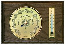 Fischer meteo interno d'attesa, barometri, termometri, quercia chiaro, 5028-33