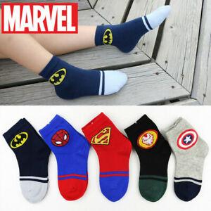 Marvel Superhero Novelty Socks Children & Kids (Ages 4-9) Spiderman Batman Gift