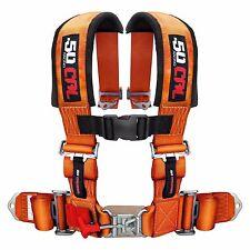 4 Point Safety Harness 3 Inch Seat Belt RZR XP900 XP1000 S 900 Orange Madness