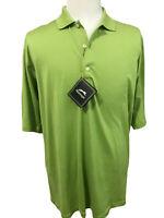 Slazenger Mens Green Golf Shirt Size Large Short Sleeve Mercerized Cotton New