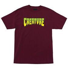 Creature Logo Skateboard T Shirt Burgundy Xl