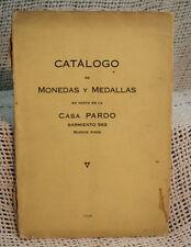 rare antique old COIN CATALOG CATALOGO DE MONEDAS Y MEDALLAS WORLD MONEY MEDALS