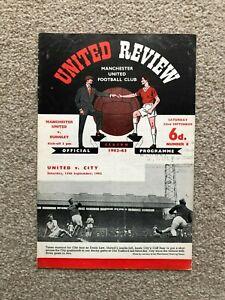 1962/3 MANCHESTER UNITED V BURNLEY (WITH TOKEN)