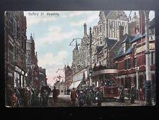 Berkshire: Reading, Oxford Street showing Open Top Tram - Old Postcard
