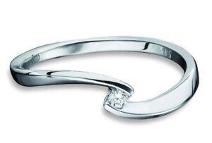 Antragsring-Verlobungsring-Gold 585 - Weißgold mit Brillant 0,040ct