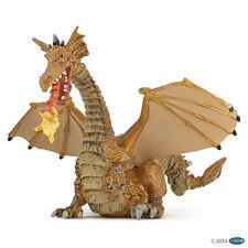 Aliento de fuego Dragón Oro 13 cm Fantasía Papo 39095