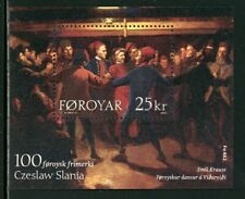 Faroe Islands Scott #438 MNH S/S 100th Faroese Stamp ART CV$7+