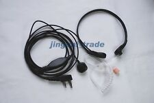 Throat Vibration Mic Acoustic Tube Ear for KENWOOD PUXING WOUXUN BAOFENG Radio