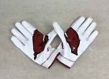 Nike Arkansas Razorbacks Superbad 4 NCAA Football Gloves Adult SZ XXL PGF432-116
