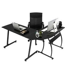 L Shape Corner Computer Office Desk Pc Laptop Table Workstation Home