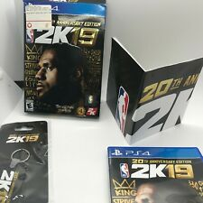 NBA 2K19 20th Anniversary Edition (PlayStation 4, 2018) Keychain and Poster