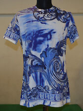 VERSACE COLLECTION BLUE WITH PRINT T SHIRT SIZE L