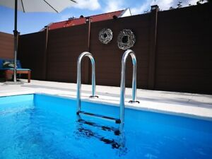 Poolleiter CARIBIC V2A Pool Leiter Edelstahl Schwimmbad Treppe 3 oder 4 Stufen