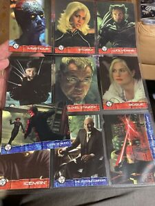X2 MOVIE (X-MEN UNITED) - LOT OF 10 CARDS