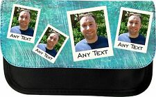 PERSONALISED ANY PHOTO POLAROID STYLE PRINT SCHOOL PENCIL CASE MAKE UP BAG