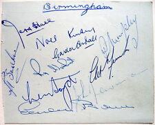 BIRMINGHAM LEAGUE DIV II CHAMP & ROTHERHAM AUTOGRAPHS