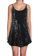 Aqua Womens Black Sequin Mini Sleeveless Party Dress S BHFO 9008