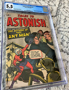 TALES TO ASTONISH #35 CGC 5.5 OW Silver Age Comic Book 1st ANTMAN in COSTUME