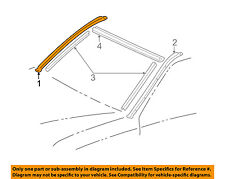 TOYOTA OEM Roof-Drip Molding Right 7553360031