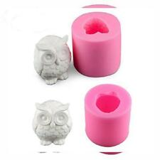 2 Pack Owl Candle Mold, Buytra 3D Silicone Mold for Homemade Candle, Mini...