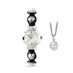 Sekonda 4061G Damen Perlmutt Kristall Set Armbanduhr Und Armband Set