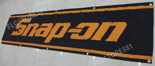 Snap-on Banner Flag 2x8ft Tools Products Garage Wall Decor New Large Banner