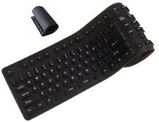 Inland 70140 Pro Foldable USB Keyboard Black [New Misc] Black, Keyboard