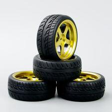 4Pcs Tyre Tires&Wheel Rim For HSP HPI RC 1:10 On-Road Racing Car D5G