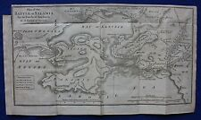 Original antique map BATTLE OF SALAMIS, GREECE, Barbie du Bocage, 1796