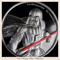 2017 Star Wars DARTH VADER 2 oz High Relief Proof Silver Coin