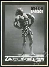 1987 Gallagher photo in muscle suit Quicksilver surfboard vintage print ad
