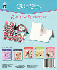 SIDE STEP DIE-CUT CARDS & ENVELOPES-Greeting Card-Paper Craft-Blank Templates
