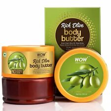 WOW Skin Science Rich Olive Body Butter-No Parabens,Mineral Oil & Color, 200 ml