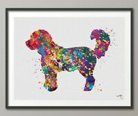 Cockapoo Dog Watercolor Print Dog Art Custom Dog Portrait Pet Doglover Gift-1495