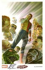 "ALEX ROSS ~ AMAZING SPIDER-MAN SDCC 2015 FINE ART PRINT SIGNED  11""X17"""