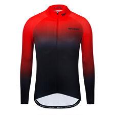 Mens Cycling Jerseys Winter Thermal Long Sleeve Bike Running Jacket Full Zipper