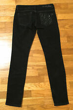 GUESS Beverly Slim Skinny Black Zipper Leg Ankle Jeans Women's Size 26