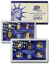 2001 S US Mint Proof Set - 10 Coins with Box & COA
