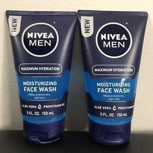 Pack of 2 NIVEA Men Maximum Hydration, Moisturizing Face Wash, 5 fl.oz each