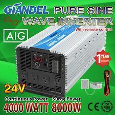 Power Inverter 4000W Pure Sine Wave 24V to 110V~120V with 40 Amp Output Box