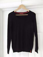 EDC Black Jumper Thin Knit Smart/Casual Classic Womens Size XS