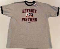 Ben Wallace #3 Detroit Pistons Reebok Ringer T-shirt Size XL NBA New NWT