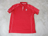 Nike Golf Tour Performance Polo Shirt Adult Extra Large Red White Woodfield Mens