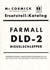 Ersatzteilliste für Mc Cormick Farmall DLD-2 .