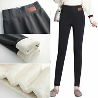 Women Winter Thick Warm Fleece Lined Thermal Stretchy Leggings High Waist Pants