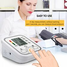 Automatic Digital LCD Arm Cuff Blood Pressure Pulse Monitor Sphgmomanometer