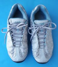 Ryka nitracel womens silver blue floral walking sneakers shoes size 8.5M