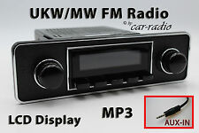 Retrosound LAGUNA Trim-B DIN Oldtimer Radio AUX-IN mp3 SET COMPLETO l502b076-036